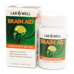 Tpbvsk bổ não Lab Well Brain Aid, Hộp 30 viên
