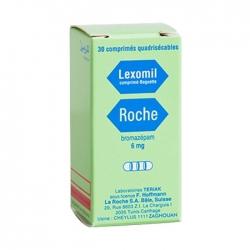 Thuốc ngủ Lexomil Bromazepam 6mg, Hộp 30 viên