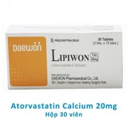 LIPIWON Atorvastatin Calcium 20mg giúp làm giảm Cholesterol