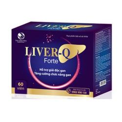 LIVER - Q Forte viên uống giải độc gan | Hộp 60 viên
