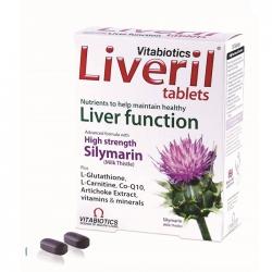 Tpbvsk bổ gan Vitabiotics Liveril Tablets, Hộp 30 viên