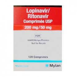 Lopinavir/Ritonavir Comprimes USP 200mg/50mg Mylan 120 viên