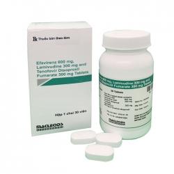 Thuốc điều trị phơi nhiễm HIV Emtricitabine 600mg Lamivudine 300mg và Tenofovir 300mg, Hộp 30 viên