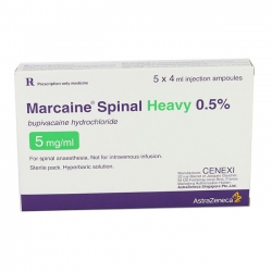 MARCAINE SPINAL HEAVY 0.5%, Hộp 5 ống