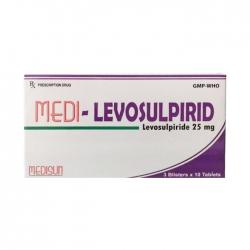 Thuốc Medi-levosulpirid 25mg, Hộp 30 viên