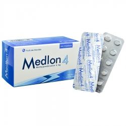 Thuốc Medlon 4, Methylprednisolone 4mg, DHG, Hộp 100 viên