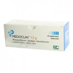 Thuốc Medoclav 1.2g, Hộp 10 ống Inj