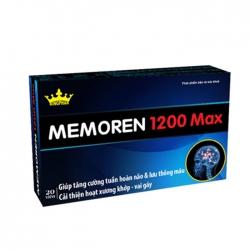 Tpbvsk bổ não Kingphar Memoren 1200 Max, Hộp 20 viên