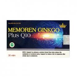 Tpbvsk bổ não Memoren Ginkgo Plus Q10 Kingphar, Hộp 30 viên