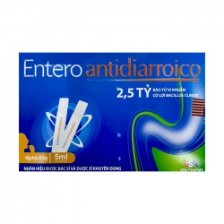 Men vi sinh Entero Antidiarroico dạng nước, Hộp 4x5 ống