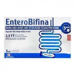 Men vi sinh Entero Bifina dạng nước, Hộp 4x5 ống
