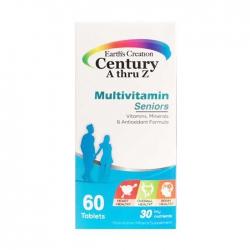 Multivitamin cho người trên 50 tuổi Earth's Creation Century A Thru Z Seniors 60 viên
