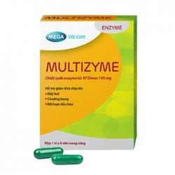 Multizyme Mega - Viên uống hỗ trợ tiêu hóa 1 vỉ x 4 viên