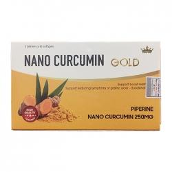 Nano Curcumin Kingphar  giúp giảm tác dụng phụ sau xạ trị, hóa trị, Hộp 30 viên
