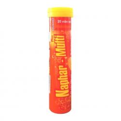 Naphar Multi Plus giúp bổ sung vitamin và tăng cường sức đề kháng, Hộp 20 viên