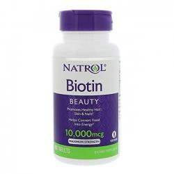 Tpbvsk chăm sóc tóc Natrol Biotin 10,000mcg Maximum Strength | Chai 100 viên
