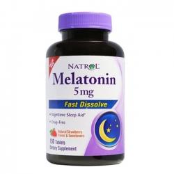 Tpbvsk giúp ngủ ngon Natrol Melatonin Fast Dissolve 5mg, Chai 150 viên