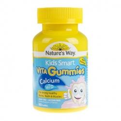Kẹo bổ sung canxi và vitamin D cho bé Nature's Way Kids Smart Vita Gummies Calcium Vitamin D