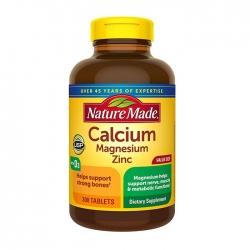 Nature Made Calcium, Magnesium & Zinc bổ sung Canxi, Magie và Kẽm, Chai 300 viên