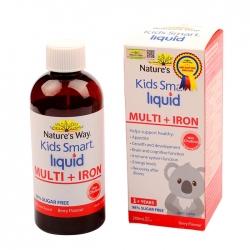Nature's Way Kids Smart Liquid Multi + Iron, hỗ trợ nâng cao sức đề kháng cho trẻ, Chai 200ml