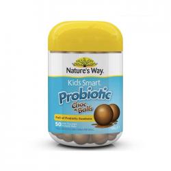 Nature's Way Kids Smart Probiotic Chocolate Balls, bổ sung lợi khuẩn tốt cho hệ tiêu hóa của trẻ, Chai 50 viên