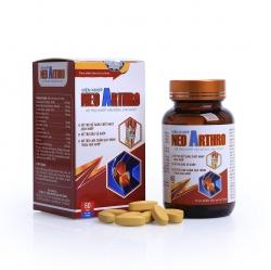 Neo Arthro - Glucosamin sulfate 2NACL 500 mg, Hộp 60 viên