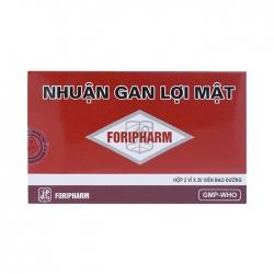 Nhuận gan lợi mật Foripharm, Hộp 40 viên