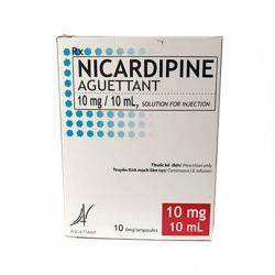 Dịch truyền Nicardipine Aguettant 10mg/10ml