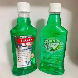 Nước súc miệng Hasan Fresh trà xanh, Chai 250ml