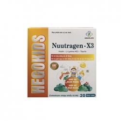 Nước uống ăn ngon Hegokids nuutragen X3 30 ống