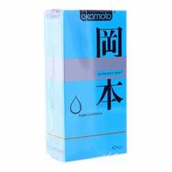 Okamoto Skinless Skin Super Lubricated, Hộp 10 Cái