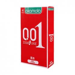 Bao cao su Okamoto 0.01, Hộp 4 cái