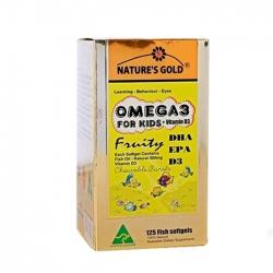 Tpbvsk dầu cho trẻ em Nature's Gold Omega 3, Hộp 125 viên