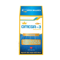 Omega 3 Kingphar giúp bổ sung Omega 3, Hộp 60 viên