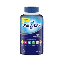 One A Day Men's Complete Multivitamin mẫu mới, Chai 300 viên