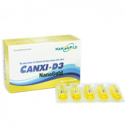 Ống uống Canxi d3 Nanogold, Hộp 20 ống
