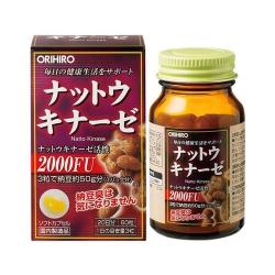 Orihiro Nattokinase 2000FU Nhật Bản | Chai 60 viên