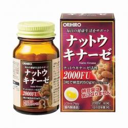 Orihiro Nattokinase Capsule 2000FU giúp làm tan cục máu đông, giảm nguy cơ tai biến