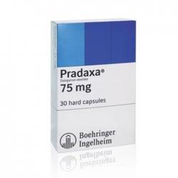 Thuốc tim mạch Pradaxa 75mg, Hộp 30 viên