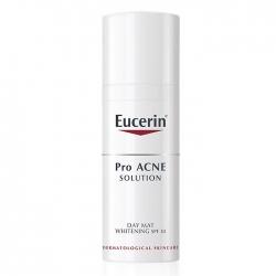 Kem dưỡng trắng, chống nắng cho da mụn Eucerin Pro Acne Solution Day Mat Whitening SPF 30 50ml