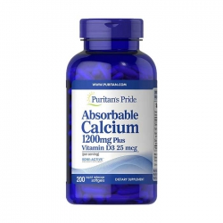 Puritan's Pride Absorbable Calcium 1200mg Plus Vitamin D3 25mcg, 200 viên