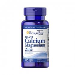 Viên uống Puritans Pride Chelated Calcium Magnesium Zinc bổ sung kẽm