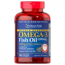 Puritan's Pride Double Strength Omega-3 Fish Oil 1200mg / 90 Softgels