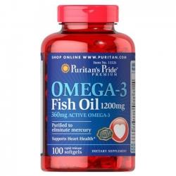 Viên uống Puritan's Pride Omega-3 Fish Oil 1200mg