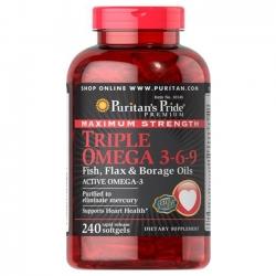 Viên uống Puritan's Pride Triple Omega 3-6-9 Fish, Flax & Borage Oils