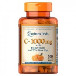 Puritan's Pride Vitamin C-1000 mg with Bioflavonoids & Rose Hips, Chai 100 viên