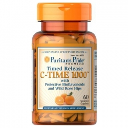 Puritan's Pride Vitamin C-1000 mg with Rose Hips Timed Release 1000 mg / 60 Caplets