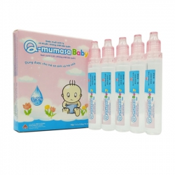 Dung dịch rửa cho bé VNP Q mumasa baby, Hộp 5 ống