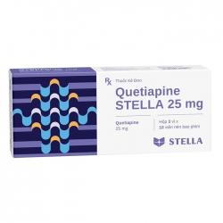 Quetiapine Stella 25mg, Hộp 30 Viên