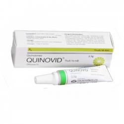 Thuốc bôi tra mắt VNP Quinovid Ophthalmic Ointment mỡ, Tuýt 3.5g